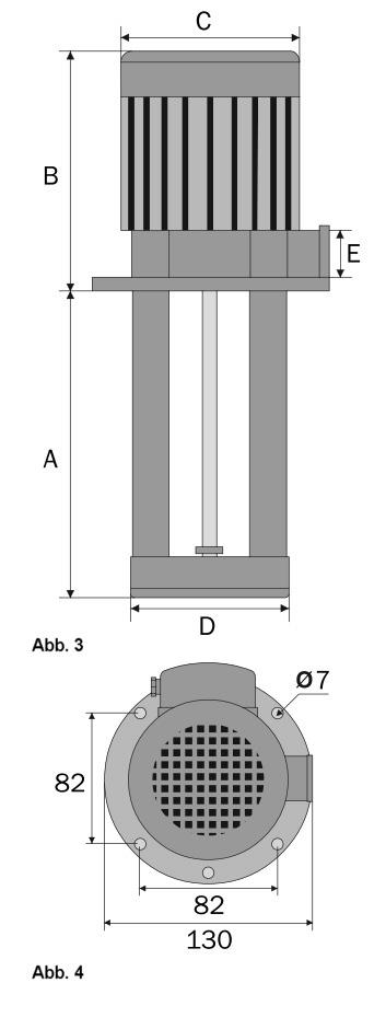 Pomp SAP PA-35 dimensies