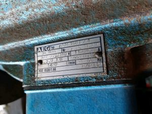 alte AEG-Pumpe 220/380V